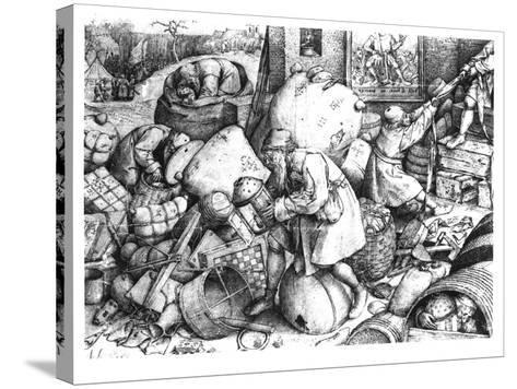 Everyman-Pieter Bruegel the Elder-Stretched Canvas Print