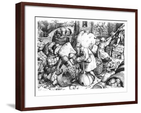 Everyman-Pieter Bruegel the Elder-Framed Art Print
