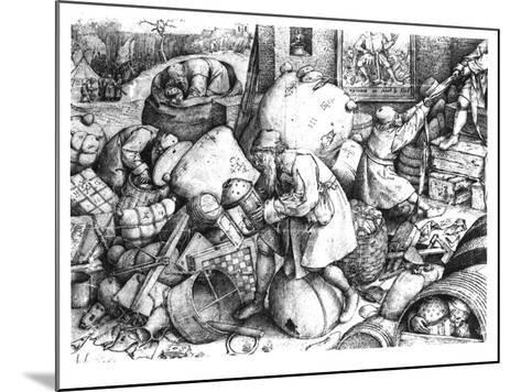 Everyman-Pieter Bruegel the Elder-Mounted Giclee Print