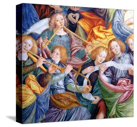 The Concert of Angels, 1534-36 (Detail)-Gaudenzio Ferrari-Stretched Canvas Print