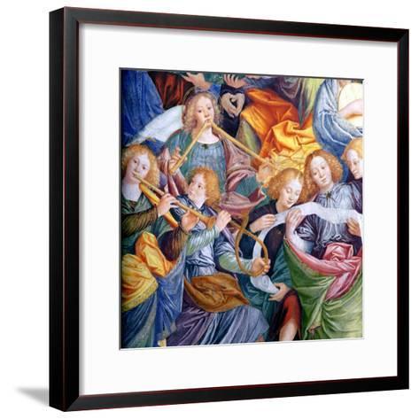The Concert of Angels, 1534-36 (Detail)-Gaudenzio Ferrari-Framed Art Print
