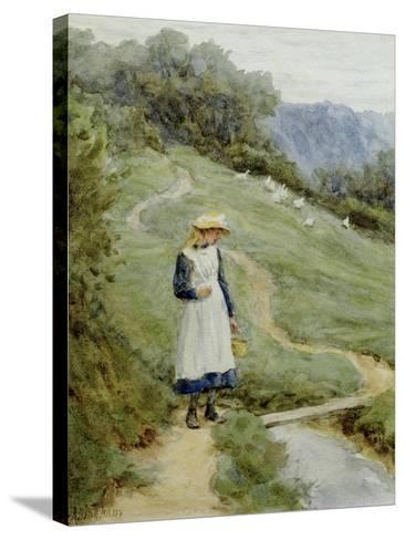 The Goose-Girl-Helen Allingham-Stretched Canvas Print