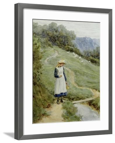 The Goose-Girl-Helen Allingham-Framed Art Print
