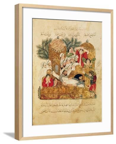 "Burial of a Plague Victim, from ""Al Maqamat"" by Al-Hariri--Framed Art Print"