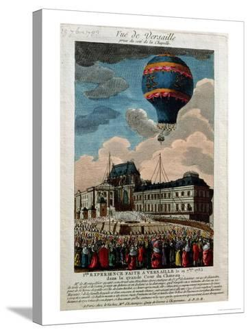 The First Ballooning Experiment at the Chateau De Versailles, 19th September, 1783--Stretched Canvas Print
