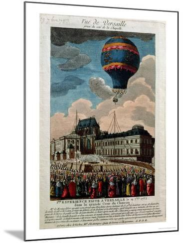 The First Ballooning Experiment at the Chateau De Versailles, 19th September, 1783--Mounted Giclee Print