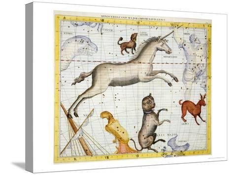 """Constellation of Monoceros with Canis Major and Minor, Plate 13 from """"Atlas Coelestis""""-Sir James Thornhill-Stretched Canvas Print"""