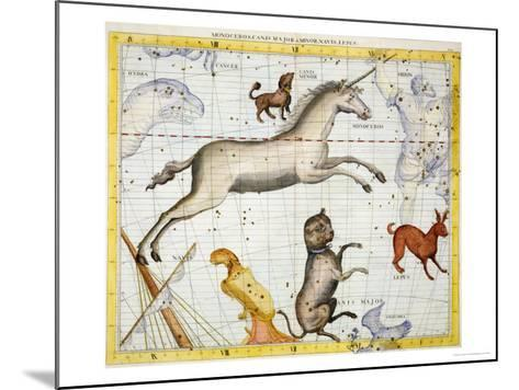 """Constellation of Monoceros with Canis Major and Minor, Plate 13 from """"Atlas Coelestis""""-Sir James Thornhill-Mounted Giclee Print"""
