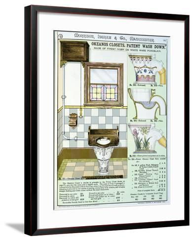 Okeanos Closets from a Catalogue of Sanitary Wares Produced by Morrison, Ingram & Co., Manchester--Framed Art Print