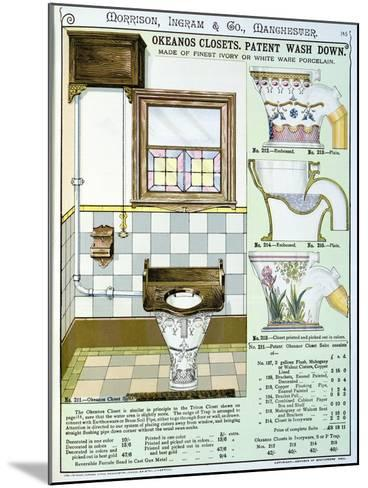 Okeanos Closets from a Catalogue of Sanitary Wares Produced by Morrison, Ingram & Co., Manchester--Mounted Giclee Print