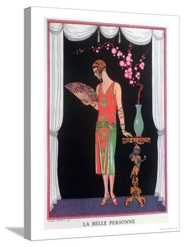 Worth Evening Dress, Fashion Plate from Gazette Du Bon Ton, 1925-Georges Barbier-Stretched Canvas Print