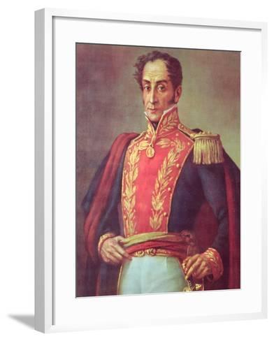 Simon Bolivar--Framed Art Print