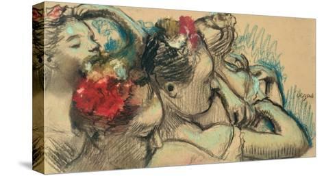 Dancers, circa 1896-8-Edgar Degas-Stretched Canvas Print