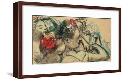 Dancers, circa 1896-8-Edgar Degas-Framed Art Print
