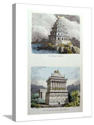 The Great Lighthouse of Alexandria and the Mausoleum at Halicarnassus-Ferdinand Knab-Stretched Canvas Print
