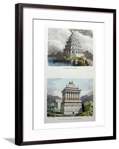 The Great Lighthouse of Alexandria and the Mausoleum at Halicarnassus-Ferdinand Knab-Framed Art Print