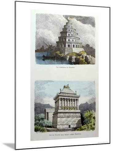 The Great Lighthouse of Alexandria and the Mausoleum at Halicarnassus-Ferdinand Knab-Mounted Giclee Print