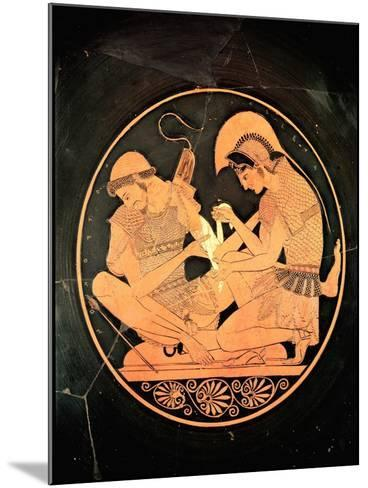 Interior of an Attic Red Figure Kylix Depicting Achilles Tending Wounded Patrocles, circa 500 BC- Sosias Painter-Mounted Giclee Print