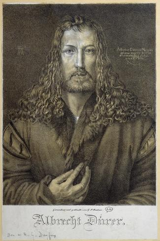 Self Portrait Aged 28, 1500-Albrecht D?rer-Stretched Canvas Print