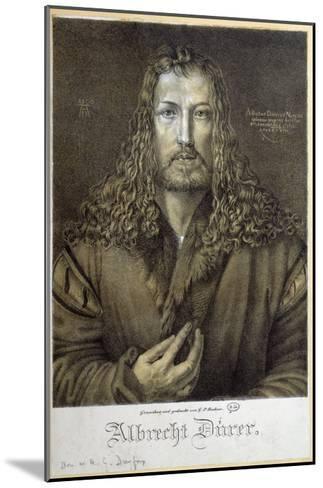 Self Portrait Aged 28, 1500-Albrecht D?rer-Mounted Giclee Print