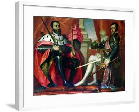 Carlos I and Felipe II--Framed Art Print