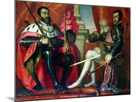 Carlos I and Felipe II--Mounted Giclee Print