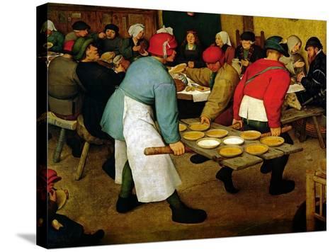Peasant Wedding, 1568 (Detail)-Pieter Bruegel the Elder-Stretched Canvas Print