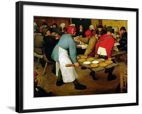 Peasant Wedding, 1568 (Detail)-Pieter Bruegel the Elder-Framed Art Print