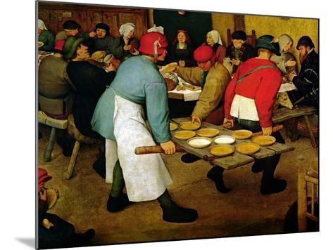 Peasant Wedding, 1568 (Detail)-Pieter Bruegel the Elder-Mounted Giclee Print