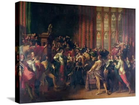 Charles I Demanding the Five Members in the House of Commons in 1642-John Singleton Copley-Stretched Canvas Print