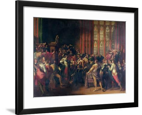 Charles I Demanding the Five Members in the House of Commons in 1642-John Singleton Copley-Framed Art Print