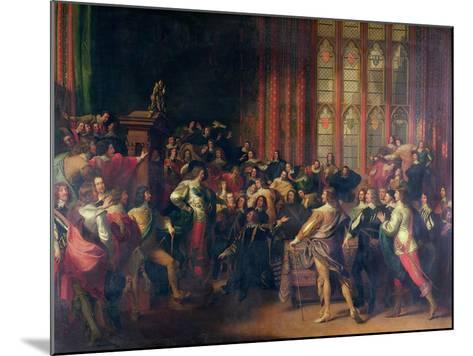 Charles I Demanding the Five Members in the House of Commons in 1642-John Singleton Copley-Mounted Giclee Print
