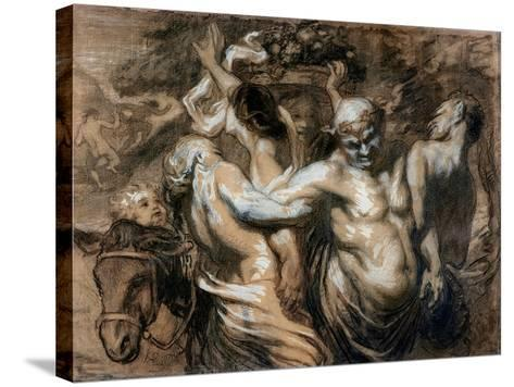 The Drunken Silenus-Honore Daumier-Stretched Canvas Print