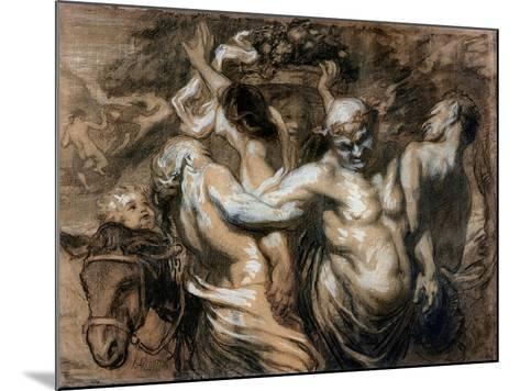 The Drunken Silenus-Honore Daumier-Mounted Giclee Print