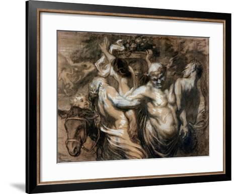 The Drunken Silenus-Honore Daumier-Framed Art Print