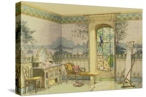 "Design for a Bathroom, from ""Interieurs Modernes,"" Published Paris, 1900-Georges Remon-Stretched Canvas Print"