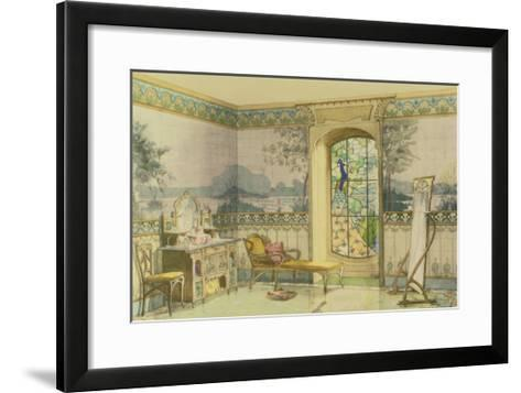 "Design for a Bathroom, from ""Interieurs Modernes,"" Published Paris, 1900-Georges Remon-Framed Art Print"