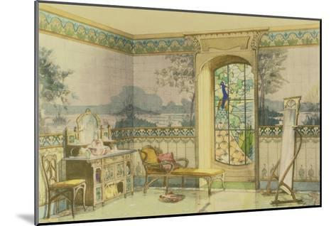 "Design for a Bathroom, from ""Interieurs Modernes,"" Published Paris, 1900-Georges Remon-Mounted Giclee Print"