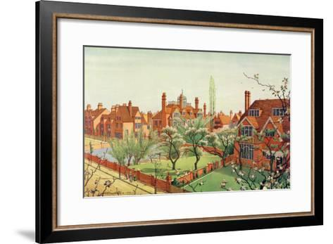 View of Bedford Park, 1882--Framed Art Print