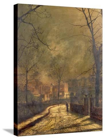 Autumn Scene, Leeds, 1874-John Atkinson Grimshaw-Stretched Canvas Print