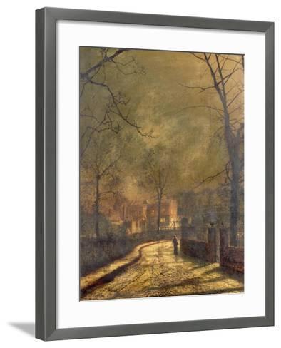 Autumn Scene, Leeds, 1874-John Atkinson Grimshaw-Framed Art Print