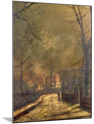 Autumn Scene, Leeds, 1874-John Atkinson Grimshaw-Mounted Giclee Print