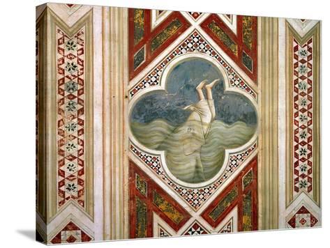 Jonah and the Whale, circa 1305-Giotto di Bondone-Stretched Canvas Print