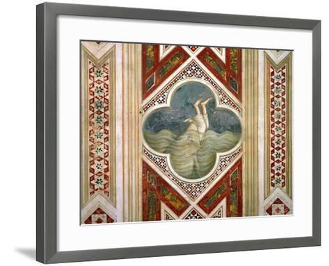 Jonah and the Whale, circa 1305-Giotto di Bondone-Framed Art Print