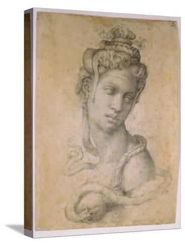 Cleopatra-Michelangelo Buonarroti-Stretched Canvas Print