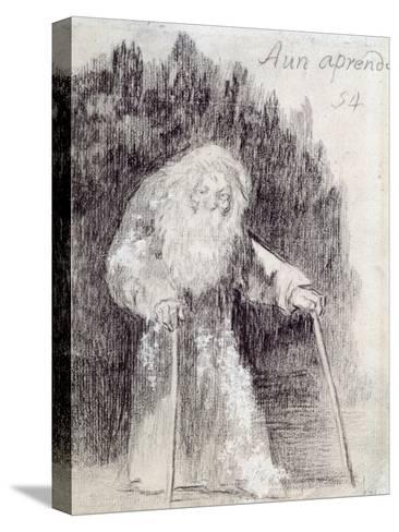 I Am Still Learning-Francisco de Goya-Stretched Canvas Print
