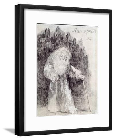 I Am Still Learning-Francisco de Goya-Framed Art Print