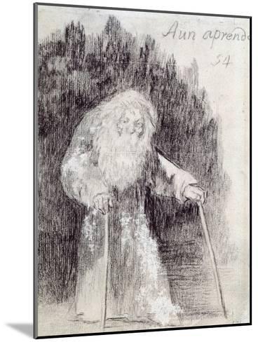 I Am Still Learning-Francisco de Goya-Mounted Giclee Print