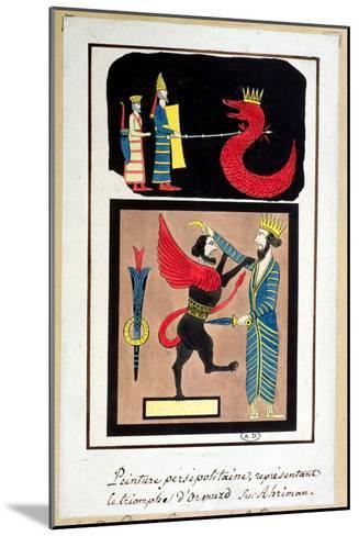 Ahura Mazda Triumphing over Angra Mainyu, Copy of a Frieze from Persepolis--Mounted Giclee Print