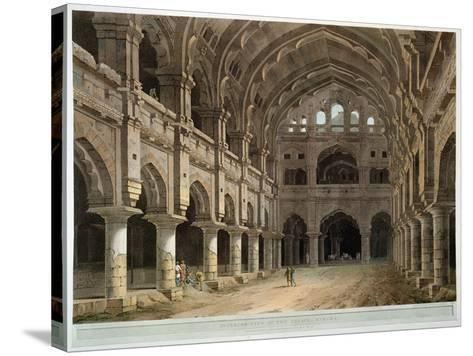 "Interior of the Palace, Madura, Plate XV from ""Oriental Scenery,"" Published 1798-Thomas Daniell-Stretched Canvas Print"